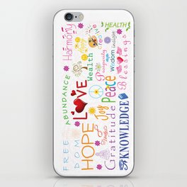 Inspirational Words iPhone Skin