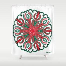 Quietud (Fondo Blanco) Shower Curtain