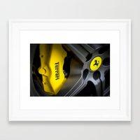 ferrari Framed Art Prints featuring Ferrari by Grafiko