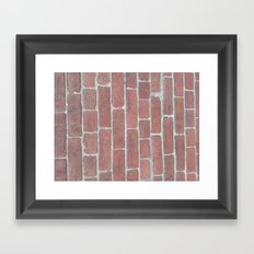 Soft Rock Brick Front Framed Art Print