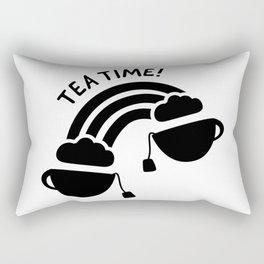 Tea Time Rainbow Cups of tea connected Rectangular Pillow