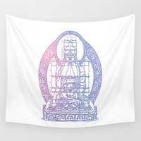 sacred geometry Wall Tapestries featuring Sacred Geometry 2 by Hazel Bellhop