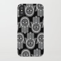 hamsa iPhone & iPod Cases featuring Hamsa by Luna Portnoi