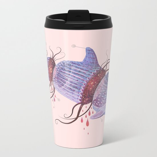 The Universe is a Dolphin Metal Travel Mug