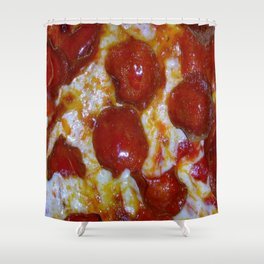 Pepperoni Pizza 🍕 Shower Curtain