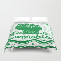 cannabis Duvet Covers featuring Yes We Cannabis by ART to GO Sasso