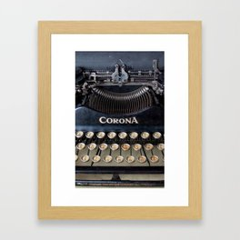 Corona Typewriter Framed Art Print