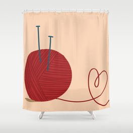 Knitted Love Shower Curtain
