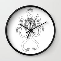 cthulhu Wall Clocks featuring Cthulhu by KittenDCute