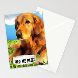A Golden Retriever Stationery Cards