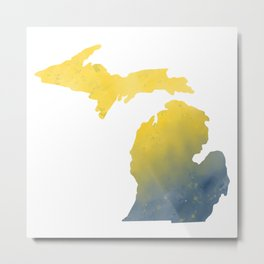 Michigan Map State Gifts Metal Print
