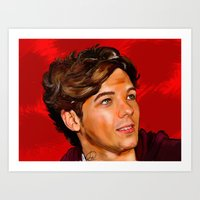 louis tomlinson Art Prints featuring Louis Tomlinson  by Tune In Apparel