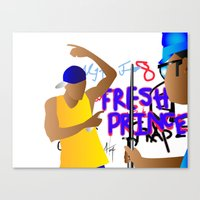 fresh prince Canvas Prints featuring Fresh Prince by Hannah  Aryee