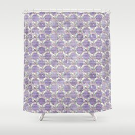 Roses & Forget Me Nots Wreath Purple Shower Curtain