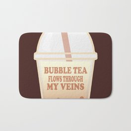 Bubble Tea Veins Bath Mat