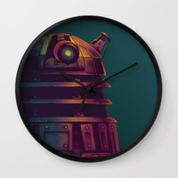 dalek Wall Clocks featuring Dalek by KiloWhat