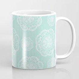 Mint Romantic Flower Mandala Pattern #2 #decor #art #society6 Coffee Mug
