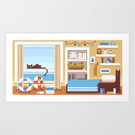 Scenery: Ship's Room Art Print