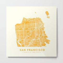 San Francisco City Map 03 Metal Print