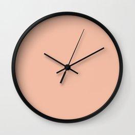 Toothpick Fusion ~ Cantaloupe Wall Clock
