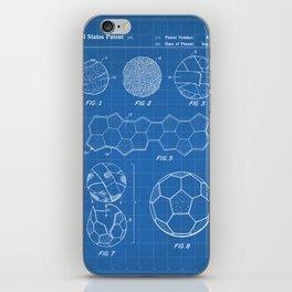 Soccer Ball Patent - Football Art - Blueprint iPhone Skin