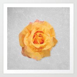 Amber Poly Rose Art Print