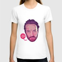 rick grimes T-shirts featuring The Walking Dead - Rick Grimes by Mike Wrobel
