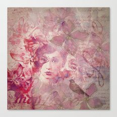 Lost Moments woman romantic illustration Canvas Print