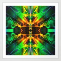 neon Art Prints featuring Neon by Assiyam