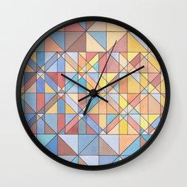Triangle Pattern no.16 Pastels Wall Clock