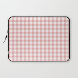 Lush Blush Pink and White Gingham Check Laptop Sleeve