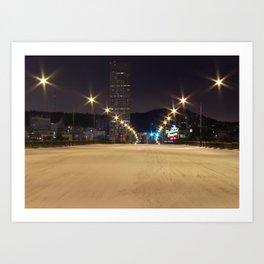 Snowlandia Night Art Print