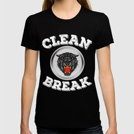 """An impactful design with a tiger in gray tones saying """"Clean Break"""" for Clean freak person Cleanse  T-shirt"""