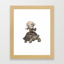 Darwin and Harriet Framed Art Print