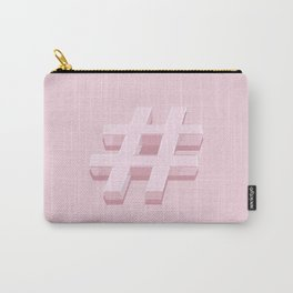 Pink Hashtag Carry-All Pouch