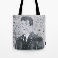jfk Tote Bags featuring JFK by Doren Chapman