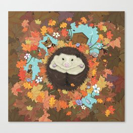Luv Song (Hedgehog) Canvas Print