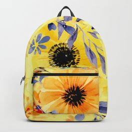 Watercolour Spring Flowers Backpack