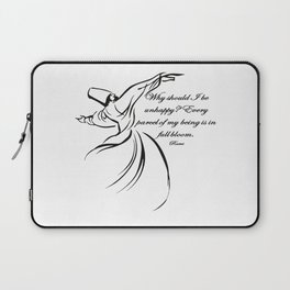 Every Parcel Of My Being Is In Full Bloom Rumi Quote Laptop Sleeve