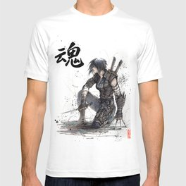 Calligraphy SOUL Ghost in the Shell Motoko Ninja T-shirt