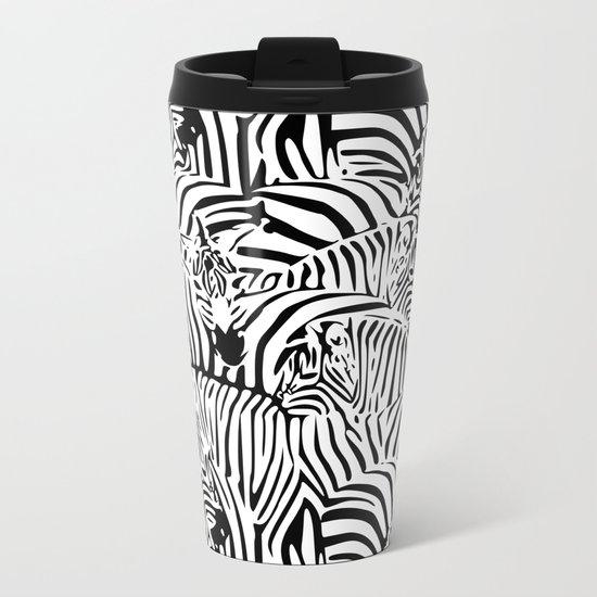 Zebras Metal Travel Mug