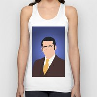 anchorman Tank Tops featuring Brick Tamland - Anchorman by Tom Storrer