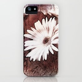 gerbera daisy on texture background iPhone Case