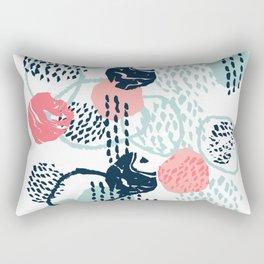 Mellie - abstract minimal modern art print painted boho hipster gender neutral canvas art Rectangular Pillow