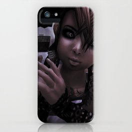 Girl with a Grudge iPhone Case