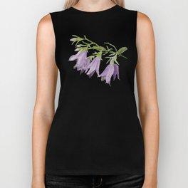 Purple bell flowers Biker Tank