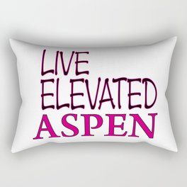 Live Elevated Aspen Colorado Rectangular Pillow