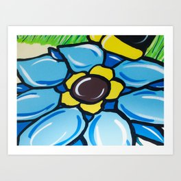 A Painting Of  A Flower Art Print