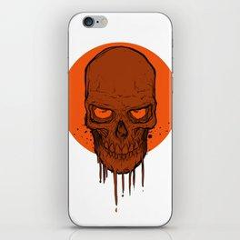Skull in Red iPhone Skin