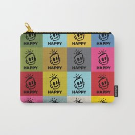 HAPPY SQUARES Carry-All Pouch